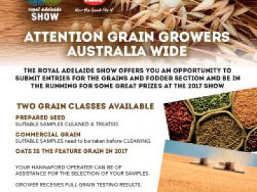 2017 Royal Show grain entries