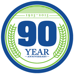 Hannaford 90 years logo